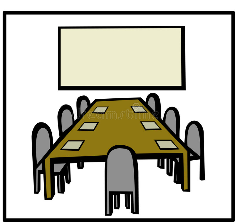 Business Meeting Room Stock Illustrations.