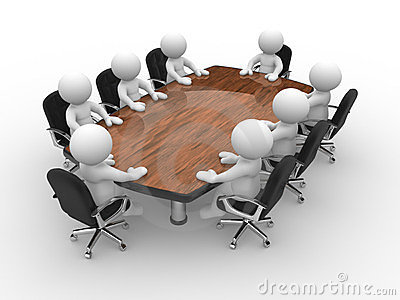 Conference table clipart.