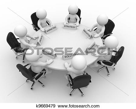 Stock Illustration of Conference table k9669479.