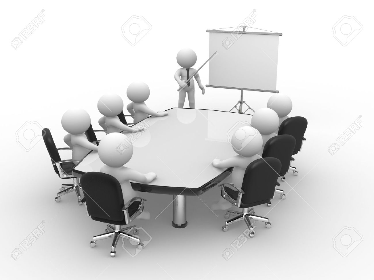 Conference table clipart free.