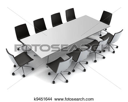 Drawings of conference table isolated k9451644.