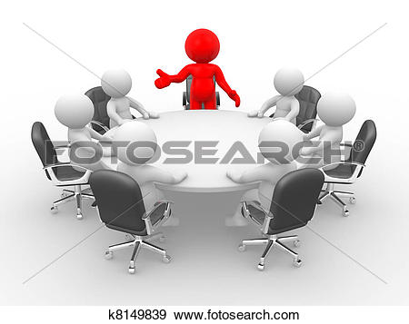 Stock Illustration of Conference table k8149839.