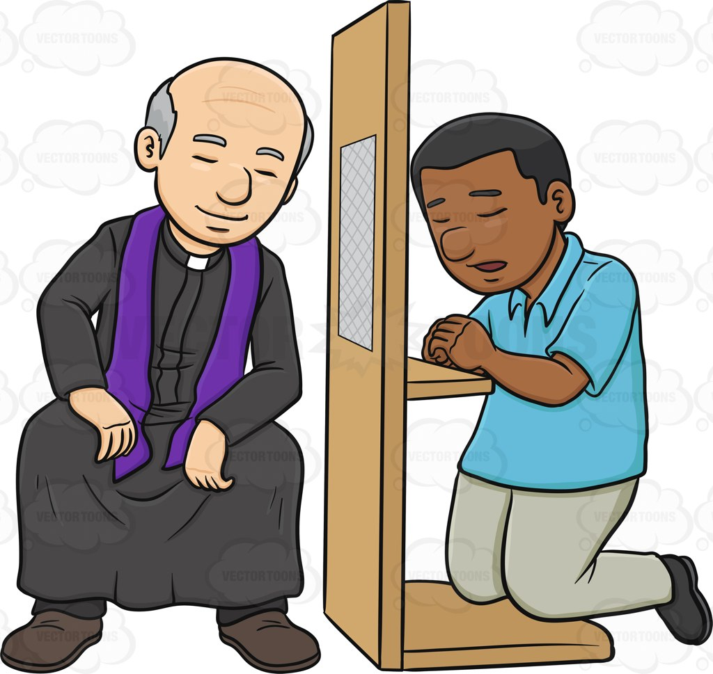 Collection of Confessing clipart.