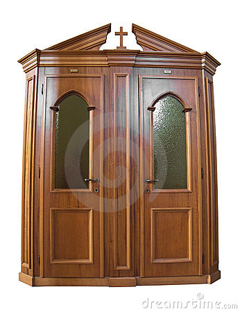 Confessional Box Stock Photography.