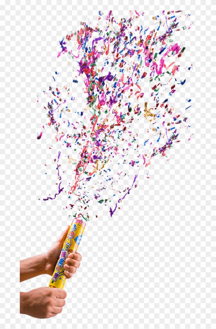 Lança Confete Png, Transparent Png.