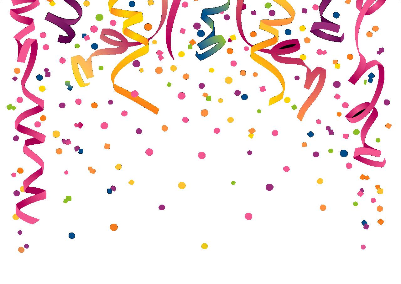 Serpentina e confete png 2 » PNG Image.