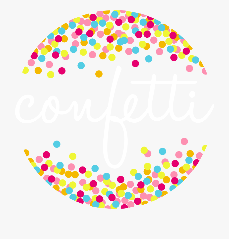 Confetti Background Vector Png.