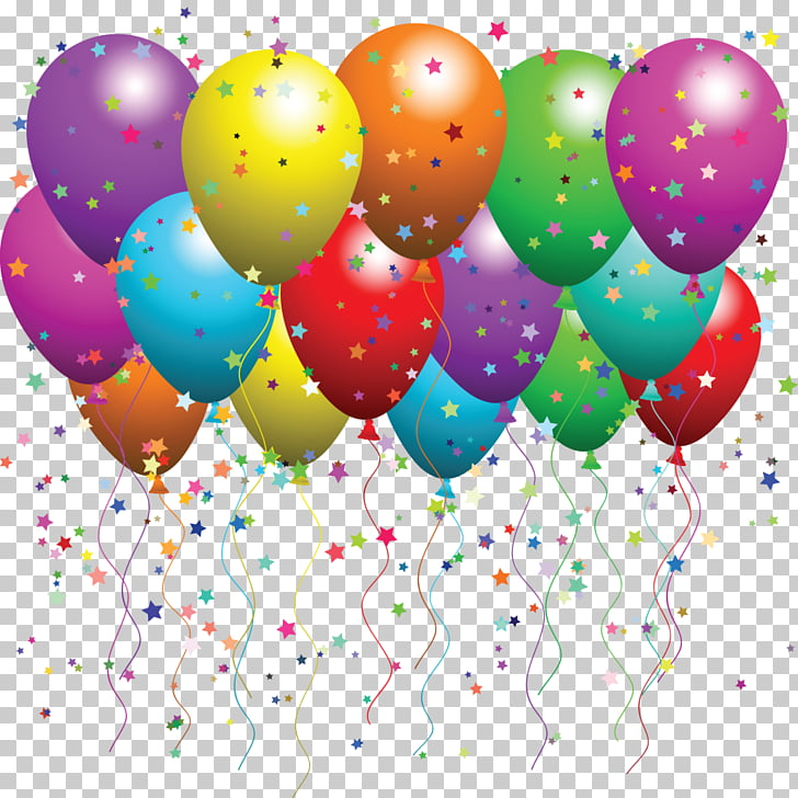 Balloon Party Birthday Confetti , balloons PNG clipart.