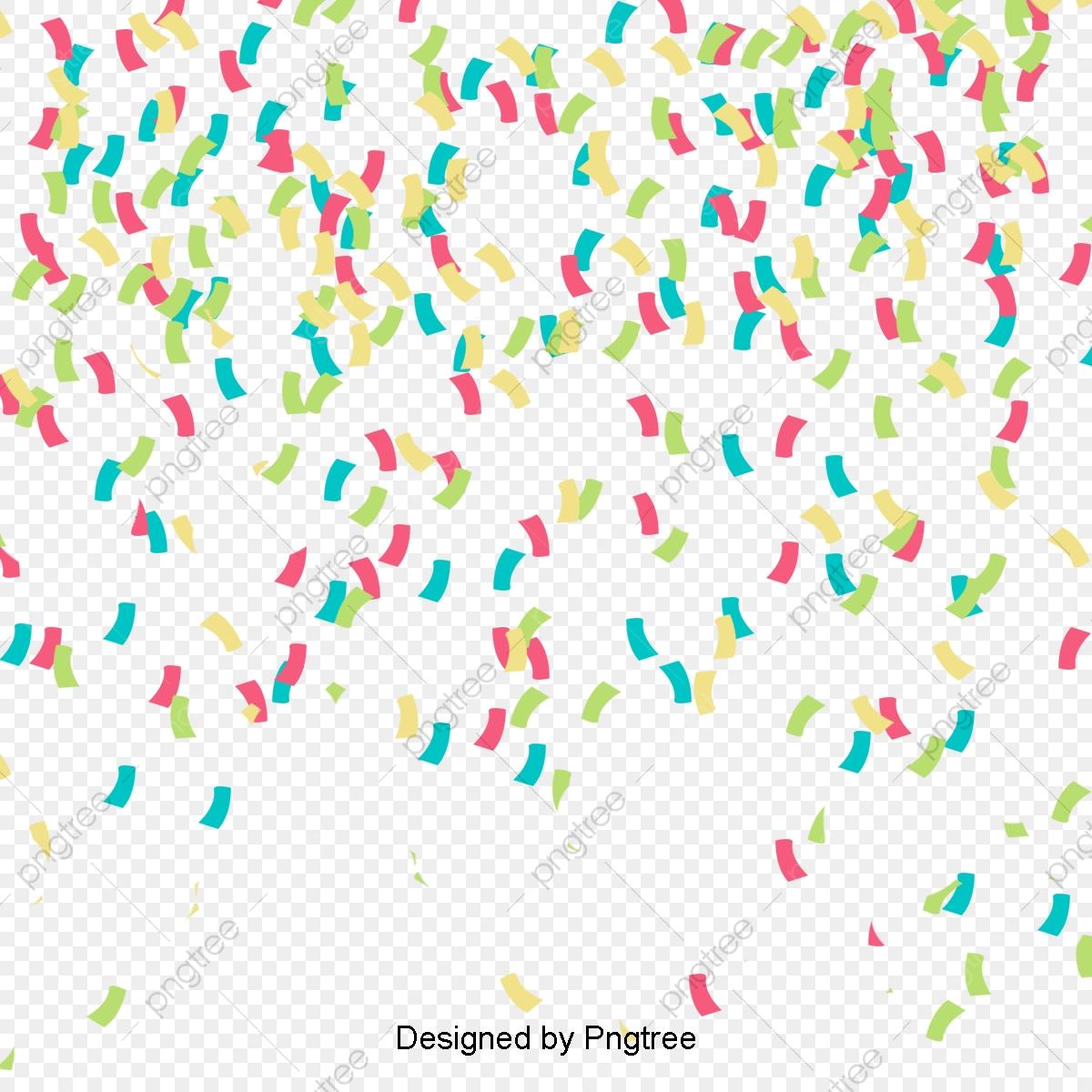 Colored Confetti Background Vector Material, Colored Background.