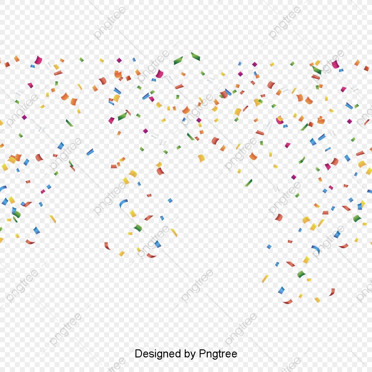 Colored Confetti Background, Colored Confetti, Background Vector.