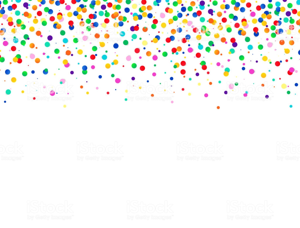 Abstract Colorful Background With Falling Confetti Vector Celebration  Illustration Stock Illustration.