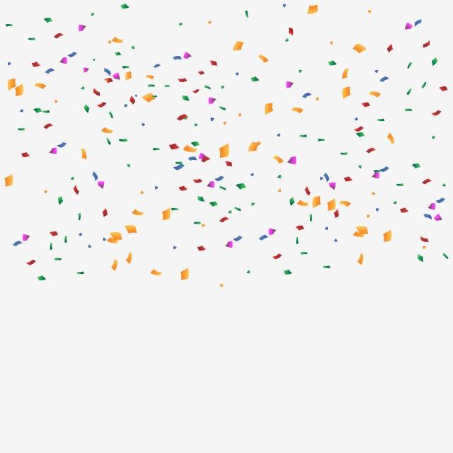 Colorful Birthday Confetti Transparent Background, Confetti.