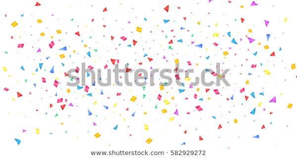 Confetti Banner Holiday Shiny Confetti Isolated Stock Vector.