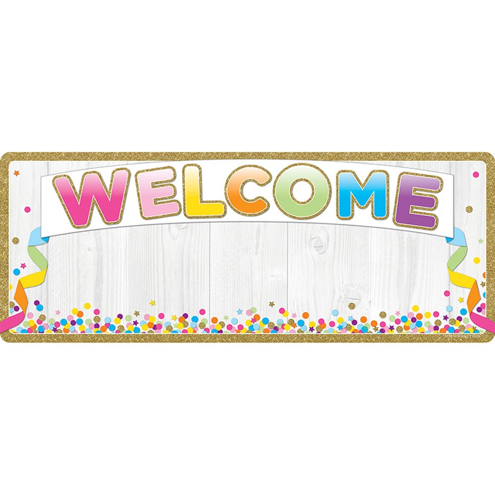 Smart Poly Welcome Banner Confetti Dry.