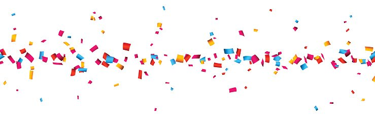 Confetti Celebration Banner premium clipart.