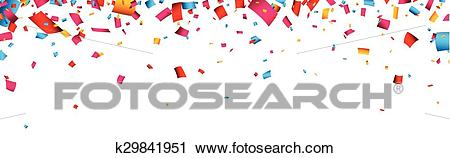 Confetti celebration banner. Clipart.