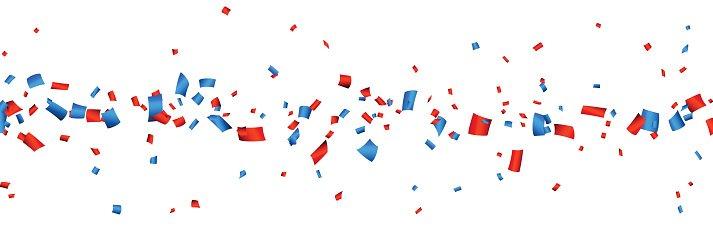 Confetti celebration banner Clipart Image.