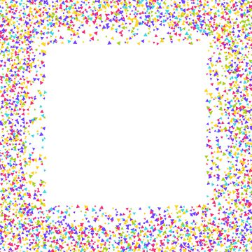 Confetti Border Png, Vector, PSD, and Clipart With Transparent.