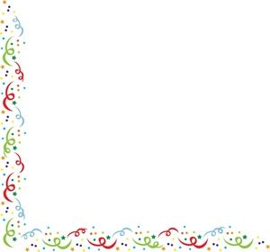 Free Confetti Clip Art Image: clip art illustration of a card with a.