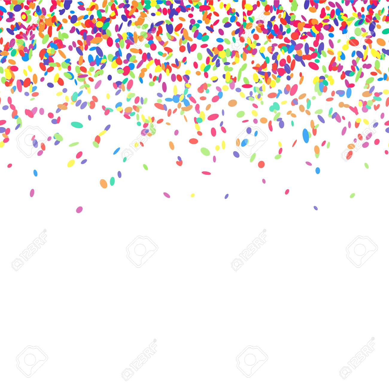 Abstract background with colorful confetti. Vector illustration...