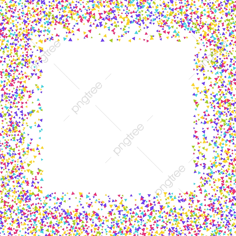 Confetti Border 2303, Balloon, Balloons, Background PNG and Vector.
