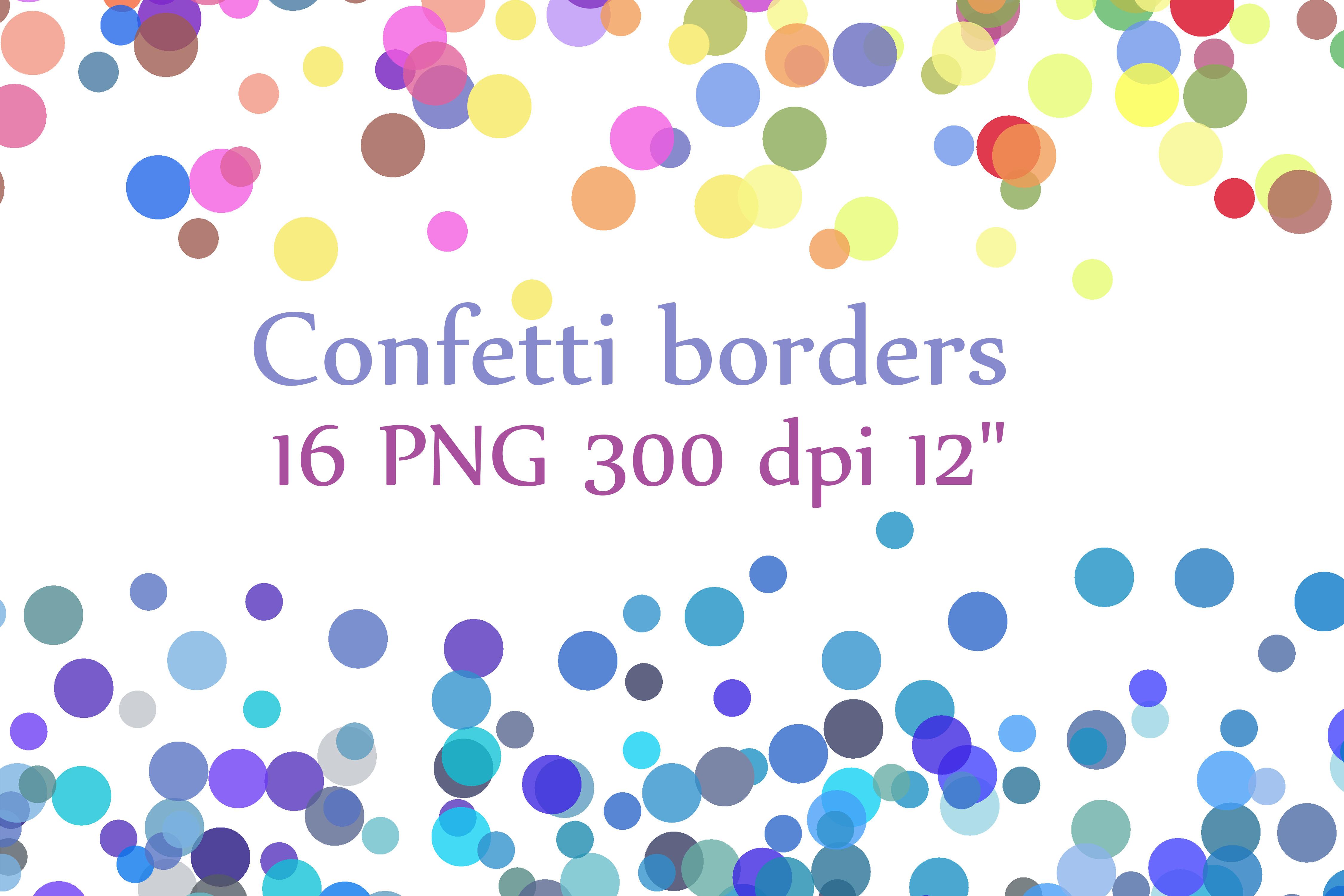 Confetti Borders clipart.