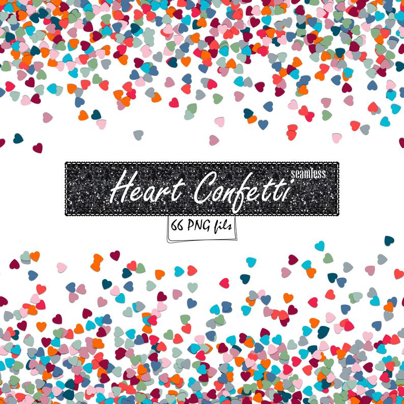 Heart Confetti overlay Heart Border PNG Clipart for Commercial use Confetti  Clipart Confetti Borders Clip Art digital borders and frames png.