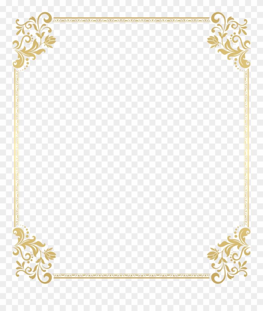 Gold Confetti Border Clip Art.