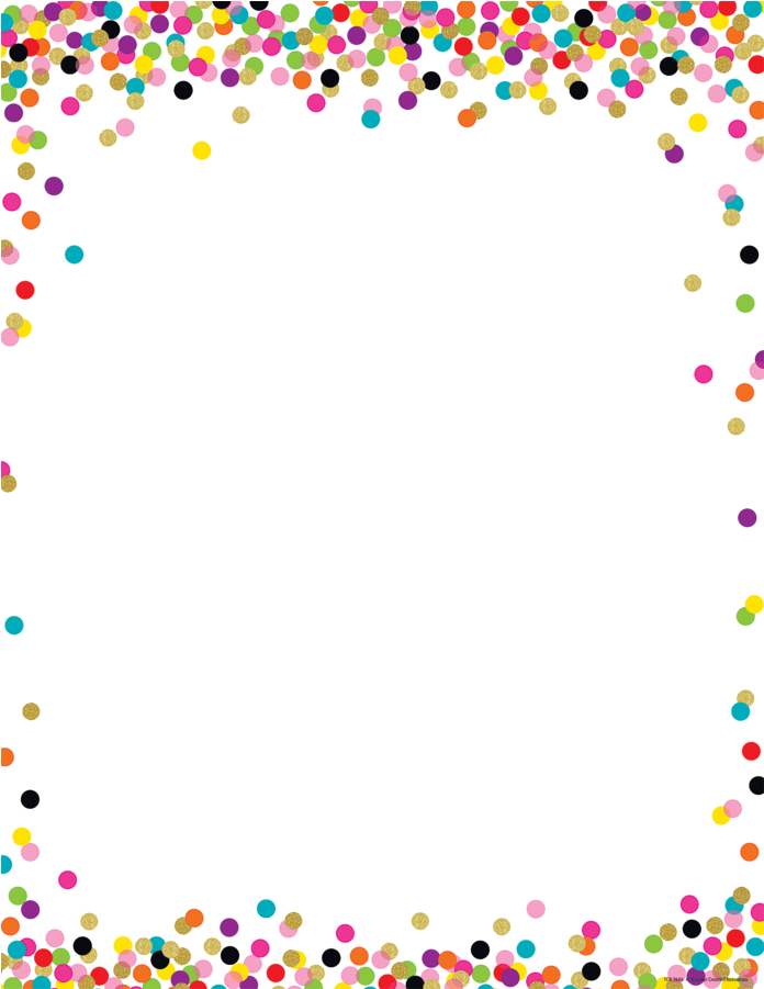 Download Confetti Border PNG Image with No Background.