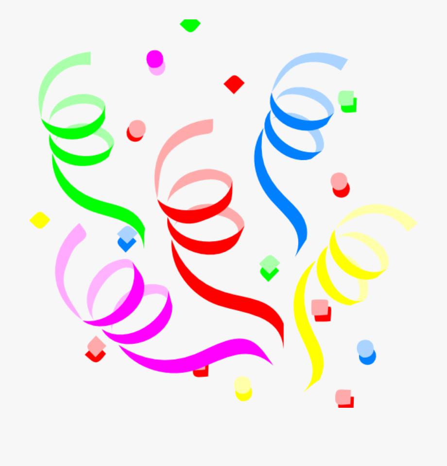 Streamers clipart confetti explosion, Streamers confetti.