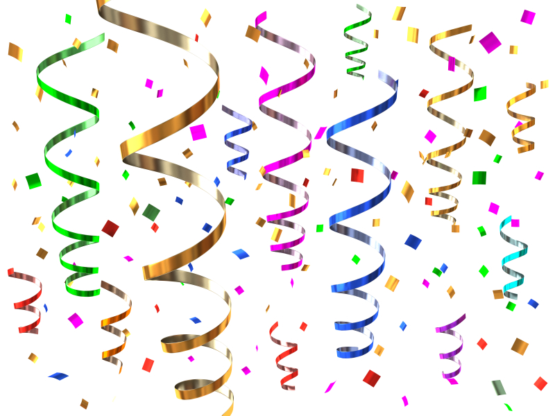Streamers And Confetti Clipart.