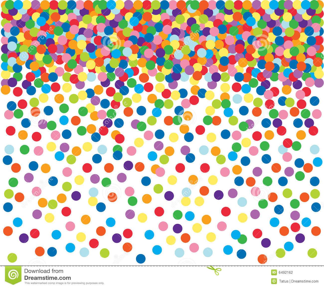 Colorful Confetti Background. Stock Vector.