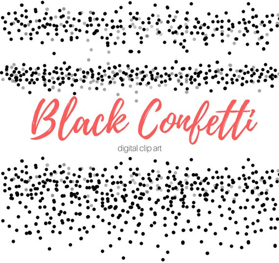 Confetti clipart black and white » Clipart Station.