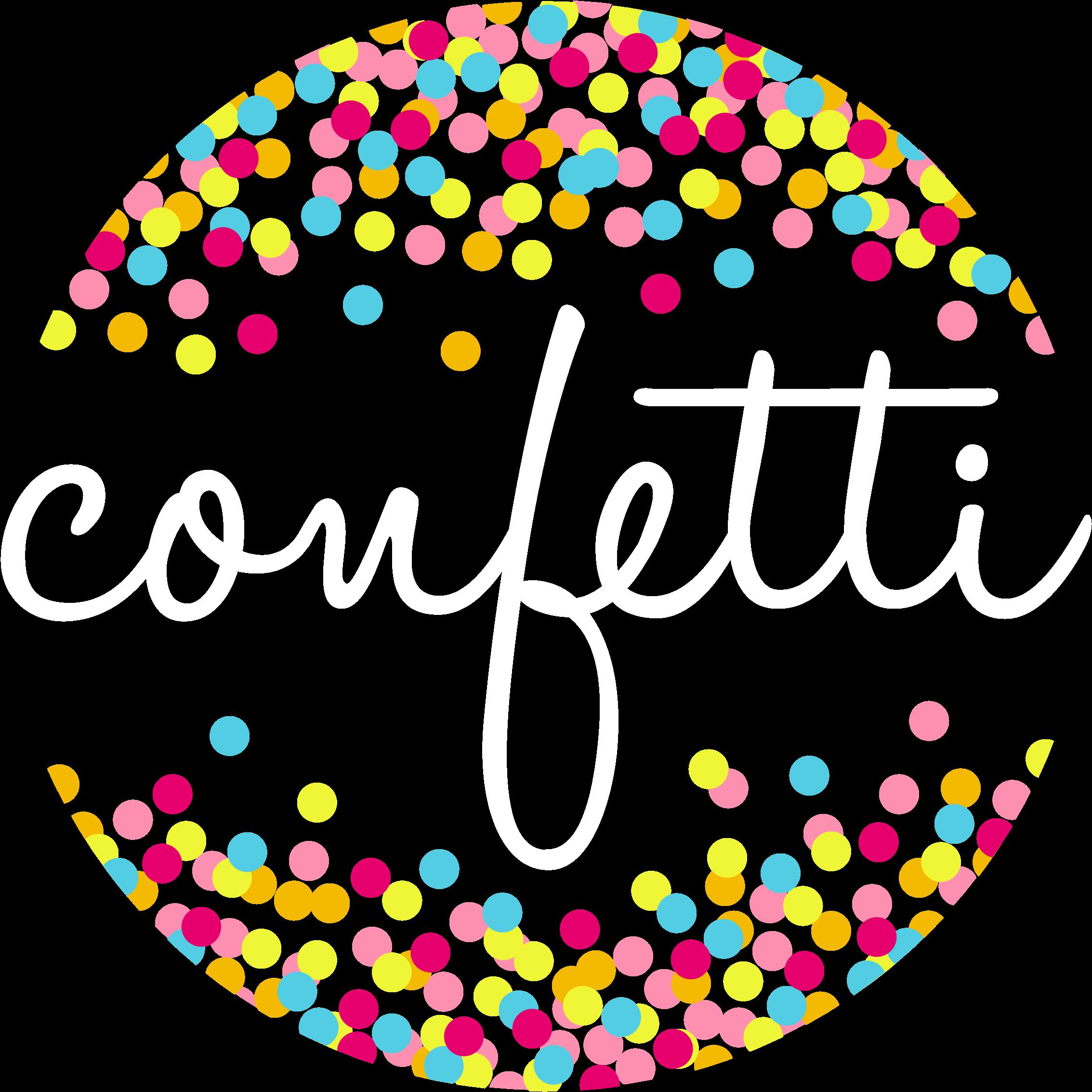 Free Confetti Border Transparent, Download Free Clip Art.