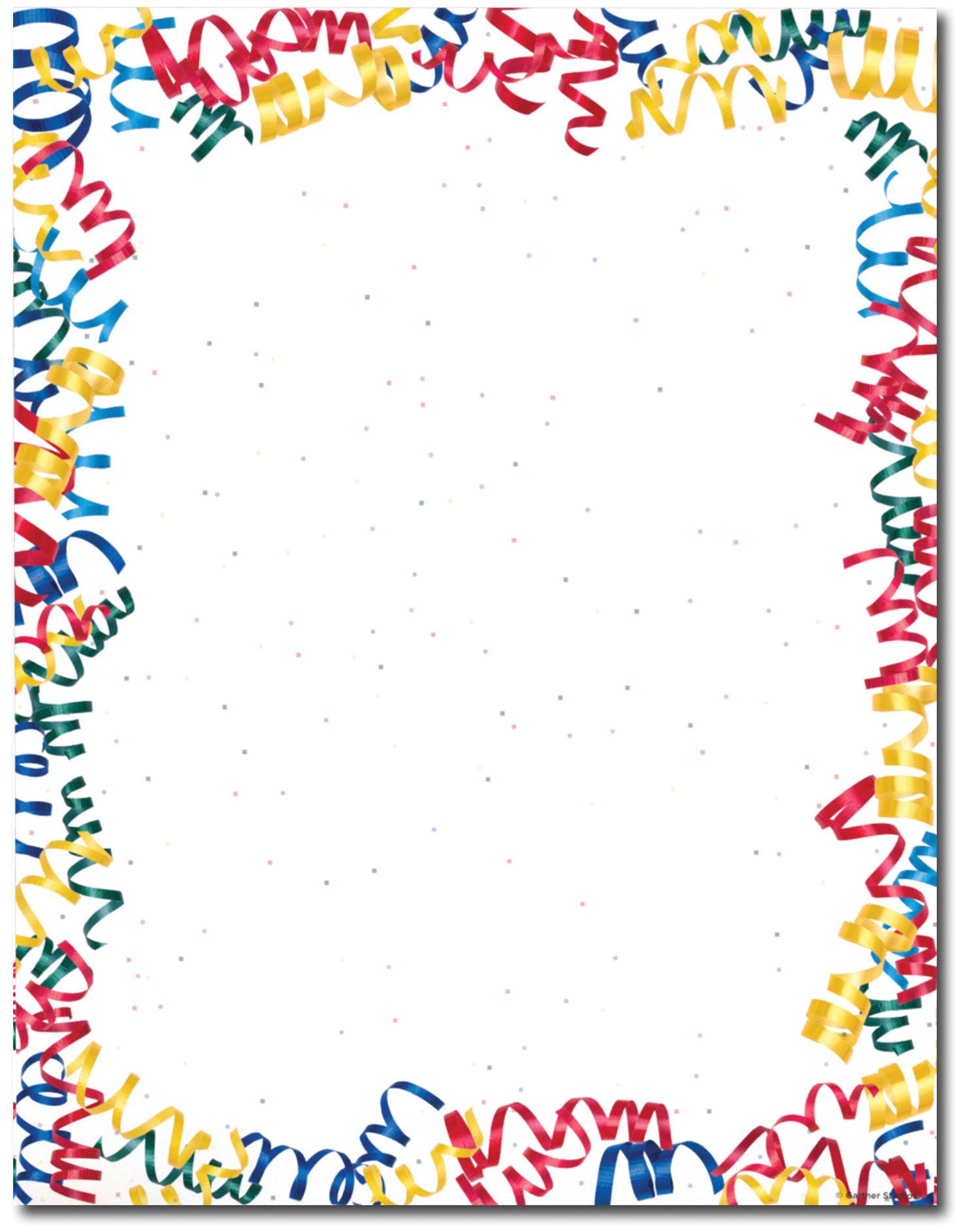 Confetti Clipart Border.