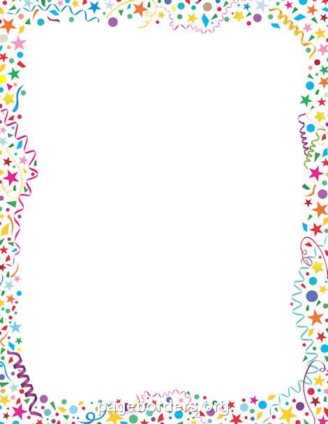Border clipart confetti, Border confetti Transparent FREE.