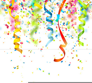 Free Clipart Streamers And Confetti.