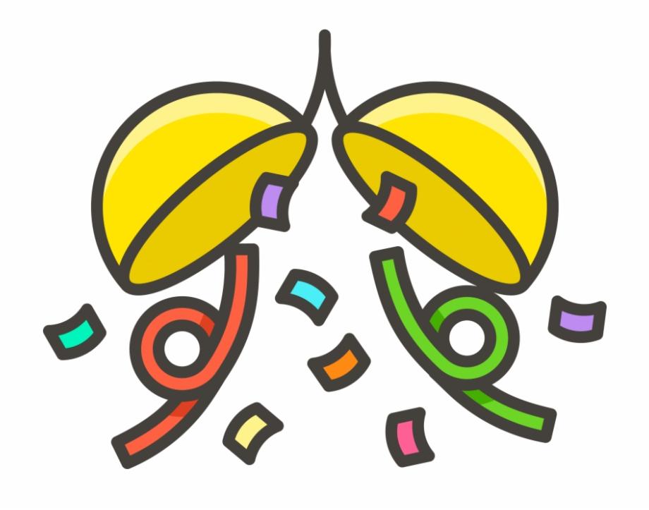Confetti Ball Emoji Icon.