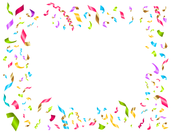 Confetti Birthday Party Decoration Clip Art.