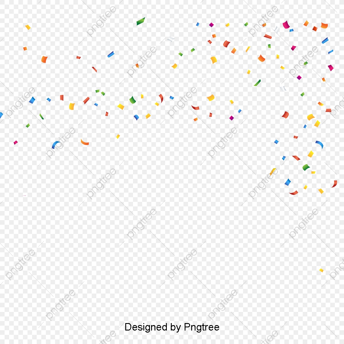 Colored Confetti, Color, Bright, Confetti PNG and Vector with.