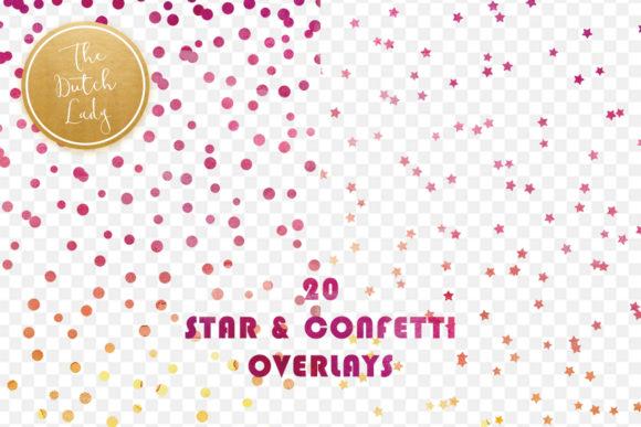 Star Confetti Overlay Clipart.