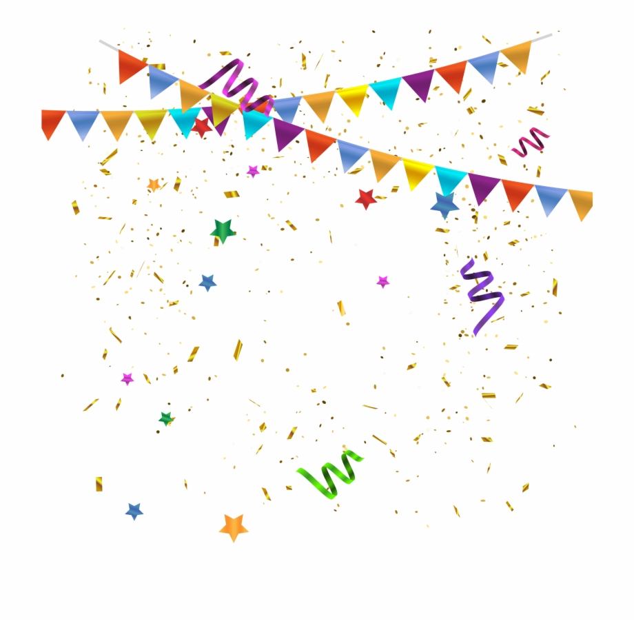 Celebration Background With Confetti Png Image Free.
