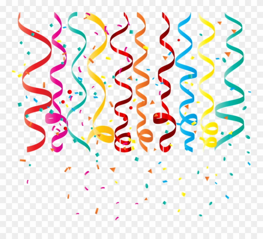 Confetti Curling Ribbon Birthday Streamers Party.