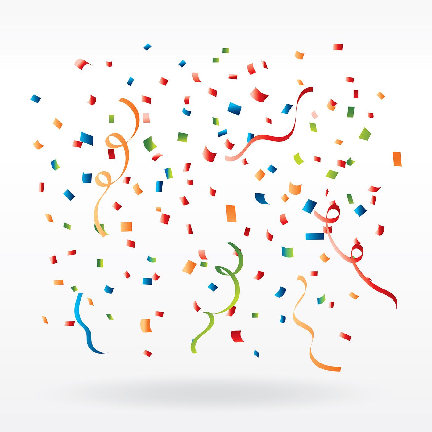 Confetti Free Vector Art.