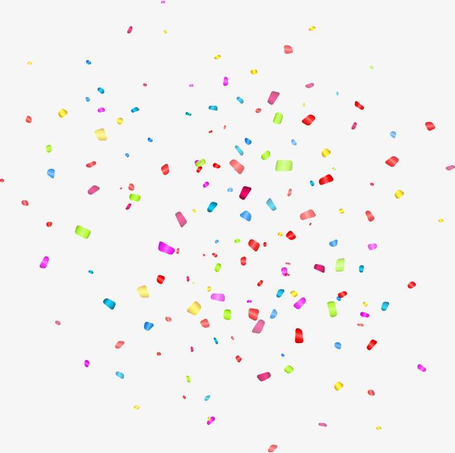 Exquisite Color Confetti Vector, Color Scraps, Scraps Of, Color PNG.