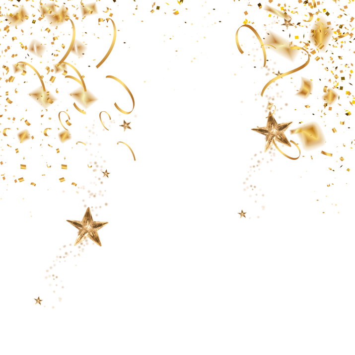 Gold Confetti Transparent PNG Image Free Download searchpng.com.