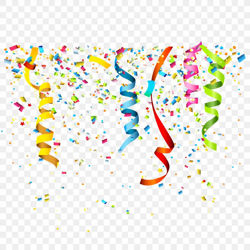 Party Confetti Birthday Clip Art, PNG, 2835x2835px, Birthday.