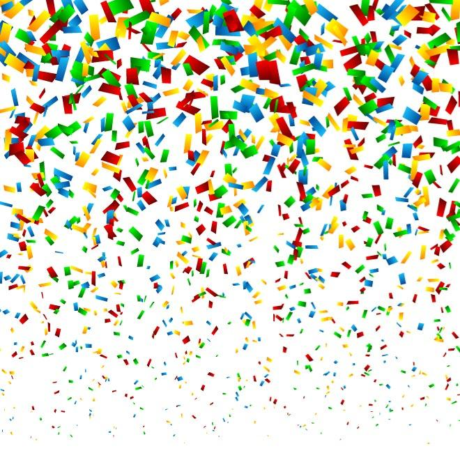 CONFETTI VECTOR GRAPHICS.