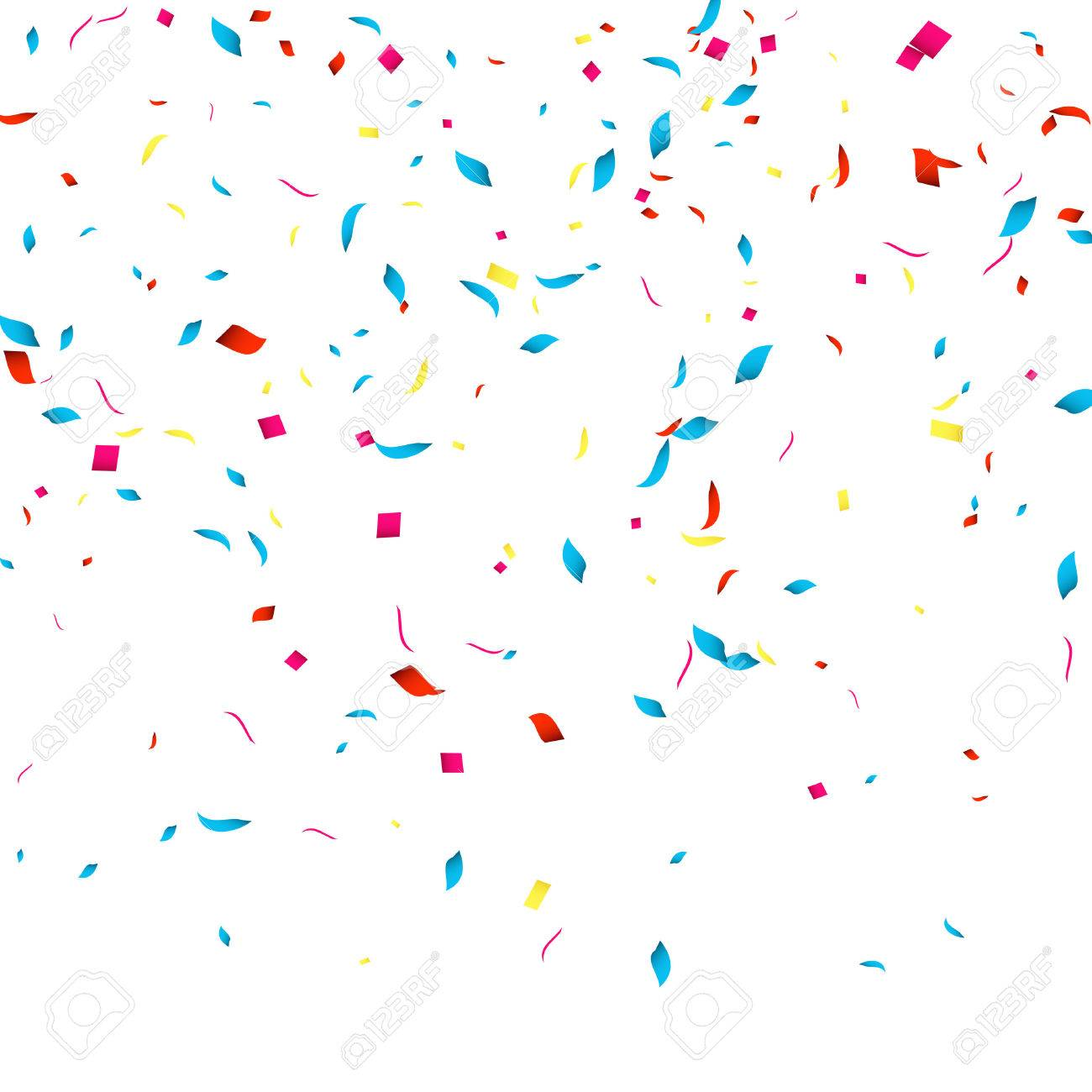 Confetti vector background for holidays party events, vector...