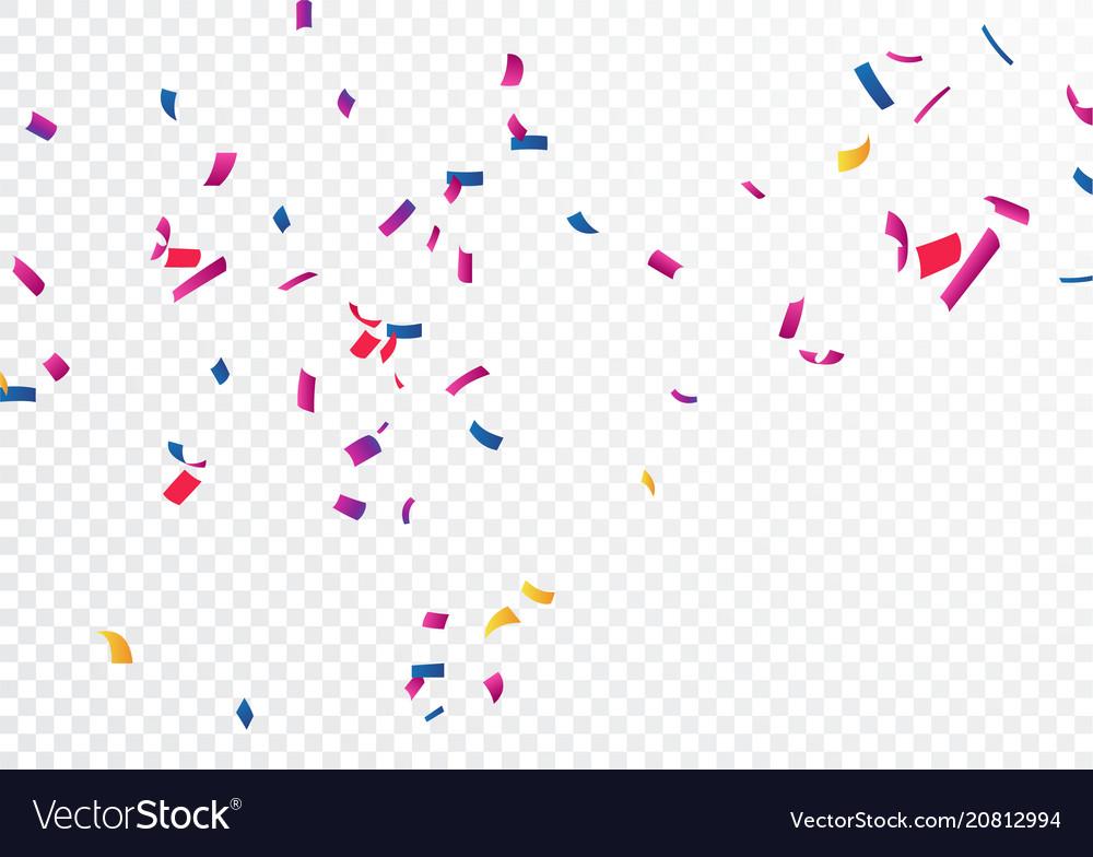 Celebration banner with colorful confetti.